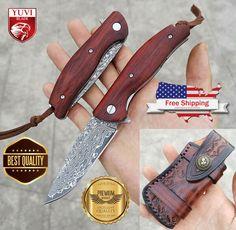 Folding Pocket Knife, Damascus Steel, Blade, Wood, Ebay, Woodwind Instrument, Timber Wood, Trees, Llamas