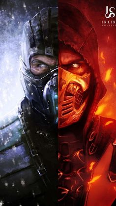 Mortal Kombat Scorpion & SubZero Ice & Fire-Mortal kombat you can find similar pins below. We have brought the bes. Mortal Kombat X Scorpion, Sub Zero Mortal Kombat, Escorpion Mortal Kombat, Mortal Kombat Tattoo, Deadpool Wallpaper, Marvel Wallpaper, Mortal Kombat X Wallpapers, Best Gaming Wallpapers, Iphone Wallpapers