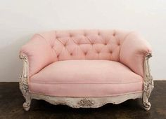 Pink vintage sofa. Beautiful prop for events, weddings, showers, anything. Elegant and rustic.