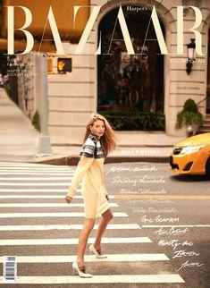 Magazine Cover: Martha Hunt by Danny Cardozo for Harper's Bazaar Kazakhstan October Fashion Magazine Cover, Fashion Cover, Nyc Fashion, Editorial Fashion, Fashion Design, Fashion Bazaar, Harper's Bazaar, Bazaar Ideas, Martha Hunt