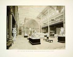 1896 Print 1893 Chicago World's Fair French Sculpture Fine Arts Building FAI7