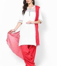 Buy Red Solid Patiala Salwar With Dupatta - PAT7 patiala-salwar online