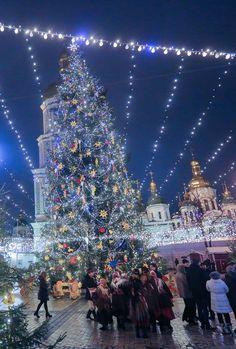 Christmas fair in Kyiv, Ukraine. 2016.