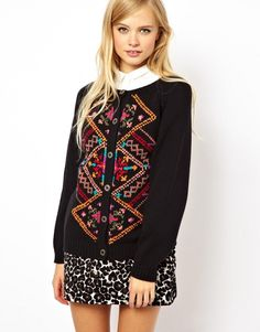 Cardigan In Vintage Look Jacquard - Now on http://ootdmagazine.com/store/product/cardigan-vintage-look-jacquard/ #fashion