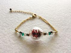 EMBR-22162 A unique bracelet with Kimono fabric and Venetian