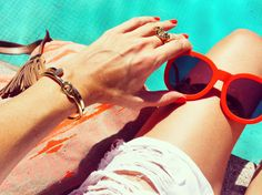 Poolside style.