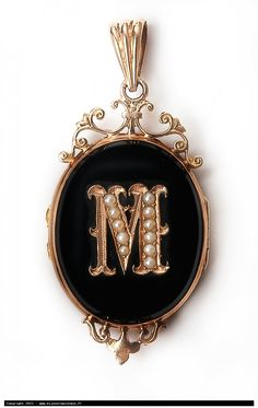 Victorian mourning onyx locket                                                                                                                                                                                 More