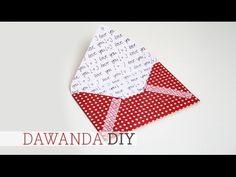 DaWanda DIY: Briefumschlag selber machen - YouTube
