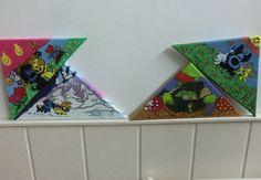 Schilderijtjes van woezel en pip,de 4 jaar getijden.
