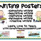 This freebie includes 5 types of writing posters: descriptive, expository, narrative, persuasive and creative.  Each poster briefly describes each ...