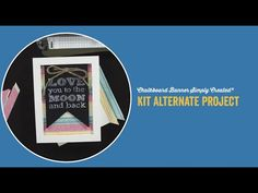 Chalkboard Banner Simply Created® Kit Alternate Project - YouTube