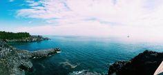 May 2015. @ Jusangjeolli Cliffs, Jeju Korea.  Sail with the view.