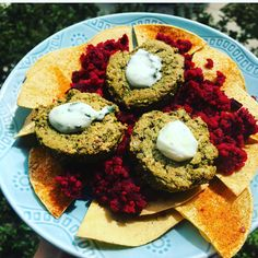 Click on link or picture for recipe. In first few comments under picture on Instagram 😁 'kale-cilantro quinoa paddies: beet-chickpea mash: corn tortillas chips'