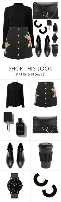 """""""Untitled #7395"""" by tatyanaoliveiratatiana ❤ liked on Polyvore featuring Class Roberto Cavalli, Topshop, Chloé and Homage"""