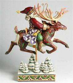 Jim Shore ~ Santa on Reindeer