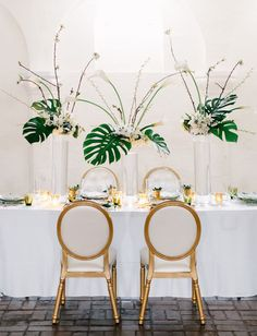 With a sophisticated, edgy and modern vibe – and a chic green wedding dress – today's art deco wedding inspiration, designed by Michelle of Absolutely In! Event