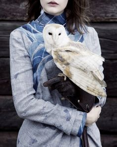 """""""The Hills Have Eyes"""". Photographed by Ben Toms for Twin S/S 2011. Such a beautiful owl."""