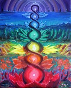 Commissioned this piece to explore the chakras in a a more abstract/non traditional way.