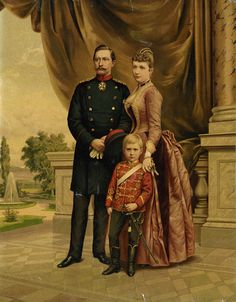 Kaiser Wilhelm II and Augusta Viktoria with Crown Prince Wilhelm