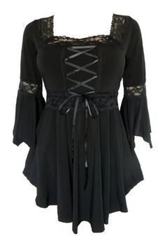 Dare To Wear Victorian Gothic Women's Plus Size Renaissance Corset Top Black up to 5X Dare to Wear   (lots of colors to choose from)