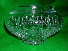 Beautiful Vintage Stuart Crystal Cut Rose Bowl Vase | eBay