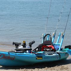 Vibe sea ghost 130 kayak offers unmatched stability for for Fishing canoe setup