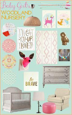 Baby Girl's Woodland Nursery Inspiration | TheTurquoiseHome.com