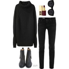 Polyvore featuring 3.1 Phillip Lim, AG Adriano Goldschmied, Acne Studios, Le Specs and Yves Saint Laurent