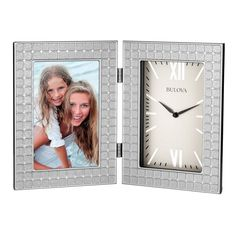 Bulova Image Picture Frame Desk Clock - B6213