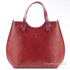 Wyjątkowa torba damska ze skóry w kolorze czerwonym. Sztywna, mieści a4. Urzekający kolor, wspaniały fason.