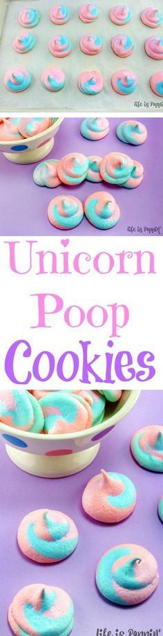 DIY dessert idea: Unicorn Poop Cookies for a unicorn party! You will be a superstar when you show up to the next birthday party, slumber party or anywhere else with these super fun unicorn poop cookies! I'm not sure if you missed the memo or not, but unicorns are currently all the rage. Or maybe they just never lose their cool. Either way, these easy unicorn poop cookies will quickly become your favorite treat to make.
