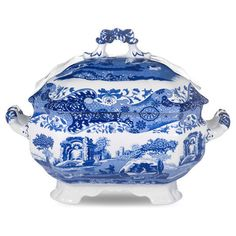 Spode  Blue Italian Soup Tureen     $100.00