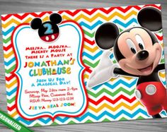 Mickey Mouse ClubHouse Invitation Mickey by CutePrintable on Etsy