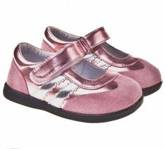THESE SHOES ARE IMPERFECTS. THEY HAVE SOME SCUFF MARKS FROM SHIPPING.    Perfect for outings to the park. These sporty little maryjanes feature girly pink sueded leather uppers.