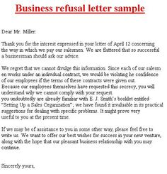 Refusal Letter Related Keywords Amp Suggestions Long Tax Refund