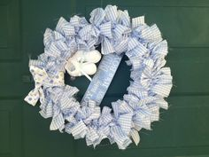 Baby boy wreath!
