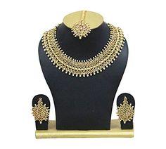 Indian Bollywood Necklace Set Elegant Bridal Wedding Wear... https://www.amazon.com/dp/B07B6NL8S1/ref=cm_sw_r_pi_dp_U_x_NIDSAbGTYGES7