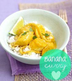 Receta fácil y rápida de curry de plátano y pollo. Típica de varios países de África. Te contamos como elaborarla paso y paso y que ingredientes necesitas