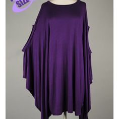 New Purple Plus Size Asymetrical Hem Tunic Poncho Size 3X – Fabulously Dressed Boutique