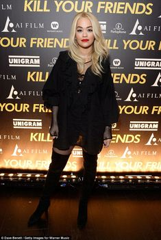 Wow factor: Rita Ora stood out out in her leggy look at the star-studded Kill Your Friends...