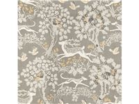Lee Jofa -stag and hound silver Wallpaper Size, Fabric Wallpaper, Wallpaper Ideas, Red Interior Design, Mulberry Home, Touch Of Gray, Lee Jofa, Silver Fabric, Fabric Houses