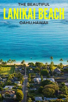 """A ½ mile stretch of beautiful sand and palm trees look out over the crystal clear waters at Lanikai Beach. Two islands called """"Na Mokulua"""" less than a mile off-shore create a beautiful paradise atmosphere on what is one of our favorite beaches on Oahu."""