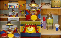 This Food = Love: Primary Color Birthday Party