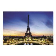 Amazon.com: Eiffel Tower Backdrop Banner (9 Ft. X 6 Ft.) Evening in Paris: Toys & Games