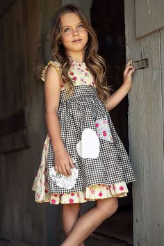 a1d26de455 Mustard Pie Strawberry Field Apron Dress Nora Cute Girl Outfits