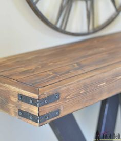 Pallet Table Plans Build a rustic console table from simple lumber. Free plans and building tutorial. - Six structural lumber boards, cut and put together to make a rustic and unique console table perfect for any entryway. 2x4 Furniture, Entryway Furniture, How To Clean Furniture, Diy Furniture Projects, Furniture Stores, Furniture Cleaning, Furniture Design, Furniture Online, Furniture Companies