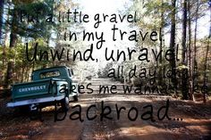 What I wouldn't do to drive down a back road. So sick of the City. But Mama don't understand :/