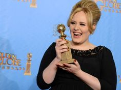 Cute Smile! #Adele backstage in the press room for the 70th Annual #GoldenGlobeAwards. Photo by Jordan Strauss/Associated Press @GoldenGlobes @AP