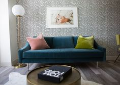 Glam living room - designed by Christina Higham of Sun Soul Style