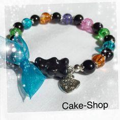"""Bracelet """"ourson Teddy"""" et perles multicolores de Cake shop - Bijoux gourmands sur DaWanda.com"""